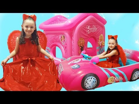 Öykü and Barbie Party - Funny Kids Videos Oyuncak Avı