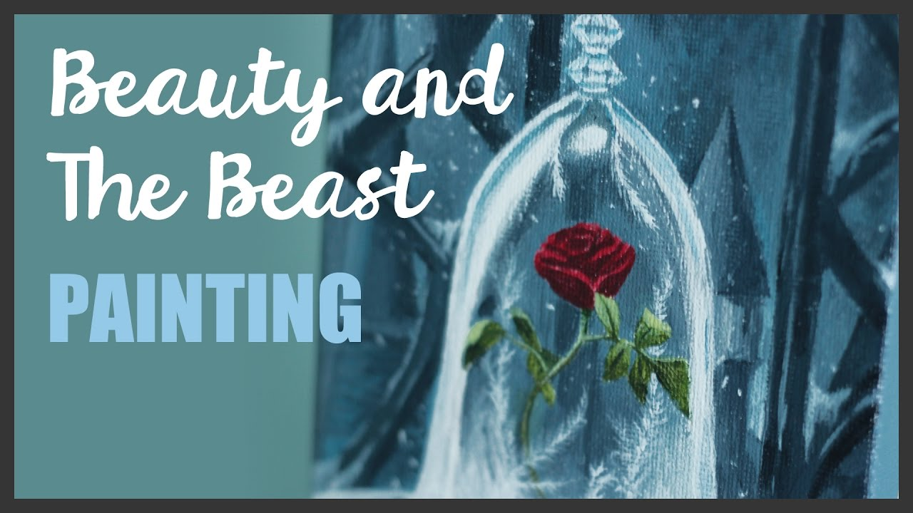 Painting Beauty And The Beast Fanart Youtube
