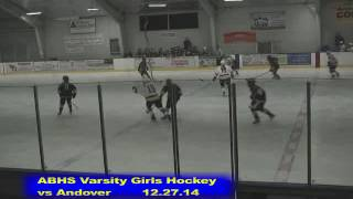 Acton Boxborough Varsity Girls Hockey vs Andover 12/27/14