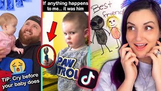 Pregnant Woman Reacts to Parenting Tik Toks