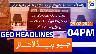 Geo Headlines 04 PM | 25th February 2021