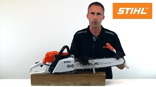 How to sharpen your chainsaw using STIHL 2-in-1 guide system