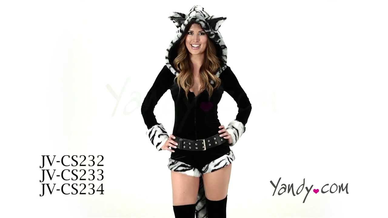 Deluxe White Tiger Romper Costume JV CS232 233 234  sc 1 st  YouTube & Deluxe White Tiger Romper Costume JV CS232 233 234 - YouTube