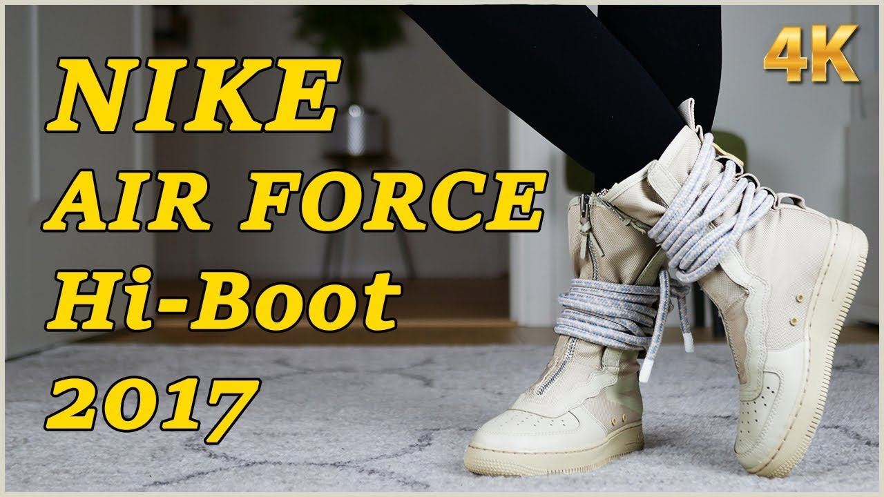 91d51e632320 Nike Air Force 1 High Boot - Unboxing   On Feet - YouTube