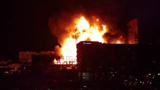 Downtown Raleigh Fire with Crane Collapse (Metropolitan Apartments)