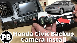 2006 - 2011 Honda Civic Backup Camera Install