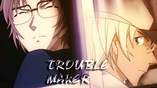 Detective Conan Bourbon Vs Akai「AMV」Trouble Maker