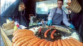 Biggest Sausages Ever Seen ! Kielbasa from Poland Tasted in London. Street Food