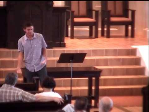 "Chris ""The Intern"" Earnshaw First Time Teaching (at Redeemer Presbyterian Church, August 5th 2012)"