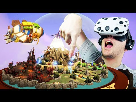 Amazing Virtual Reality RTS! - Skyworld Gameplay - VR HTC Vive