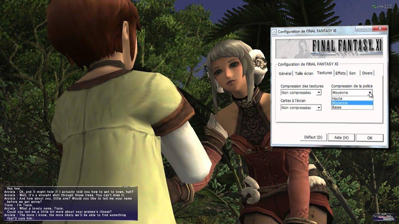Final Fantasy XI - Setting - Configuration ! (FFXI #61)