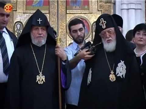 Patriarch and Catholicos of All Armenians Karekin II in Georgia 1/2