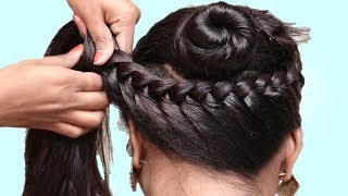 French Braided Bun Hairstyles 2019 || French Roll || French Twist Hairstyle || French Hairstyles