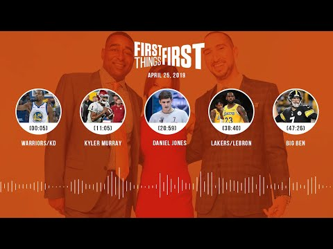 First Things First audio podcast (4.25.19)Cris Carter, Nick Wright, Jenna Wolfe | FIRST THINGS FIRST