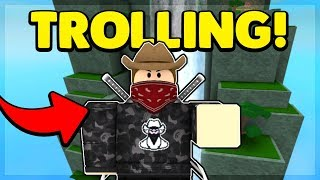 TROLLING AS BANDITES ON SUPER POWER TRAINING SIMULATOR (ROBLOX)