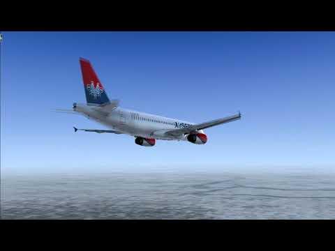 [FSX]Air Serbia A320 Approach & Landing in Belgrade