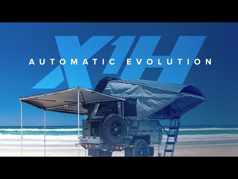 Patriot X1-H camper trailer expands into an off-grid shelter at the push of a remote