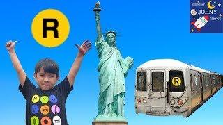 Johny's MTA Subway Train Ride To The Statue Of Liberty & Ellis Island