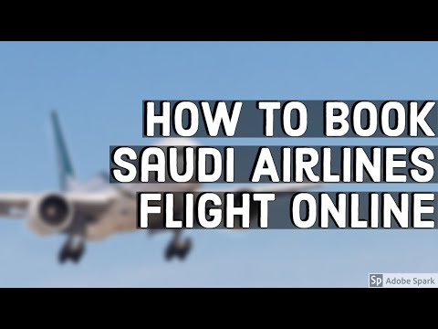 How to Book Saudi Airlines Flight Online