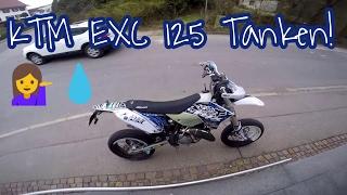 Motovlog   Wie Tanke ich meine KTM EXC 125   1:50 Mischen   Belray Si7