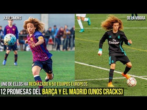12 NIÑOS CRACKS QUE SON EL FUTURO DEL MADRID Y DEL BARCELONA, XAVI SIMONS, DE LA VIBORA ,ETC