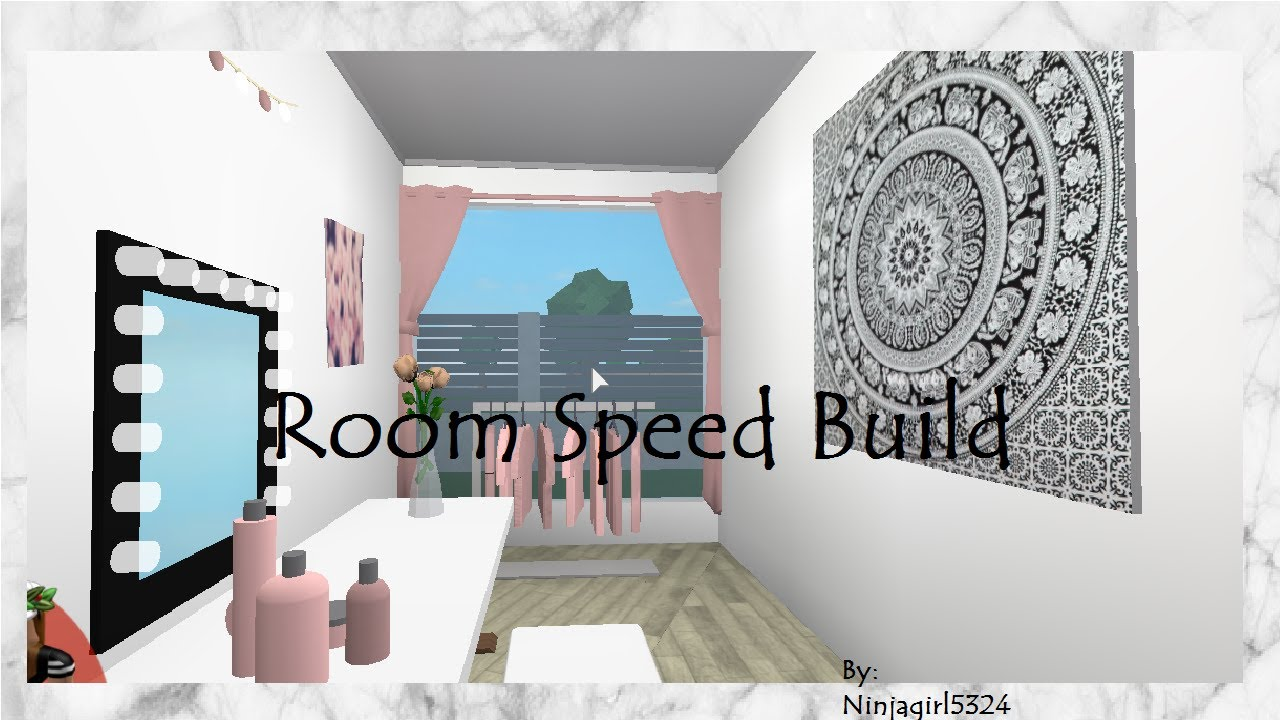 Welcome To Bloxburg Bedroom Speed Build Youtube