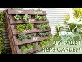DIY Shipping Pallet Herb Garden   Makeful