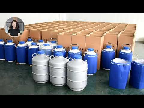 Liquid Nitrogen Dewar Tank 50 Liter Cryogenic Container Gas ...