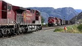 Canadian Pacific coal train cross at Kamloops Lake