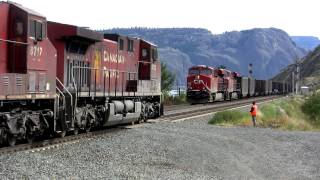 Canadian Pacific coal train cross at Kamloops Lake