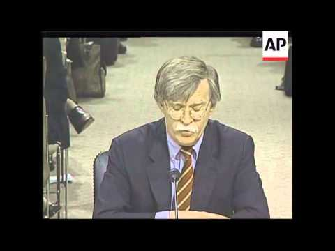 PREVIEW ahead of lawmakers' vote to confirm John Bolton as next UN ambassdor