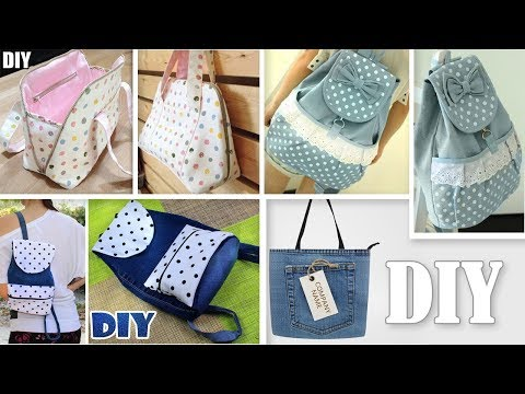 DIY ADORABLE BACKPACK AND BAGS IDEAS // Cut & Sew Method Making No Difficult Patterns