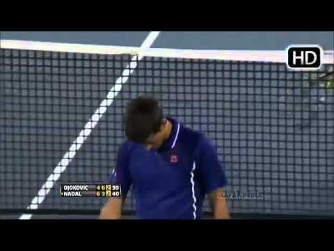 RAFAEL NADAL HITS NOVAK DJOKOVIC IN HIS FACE ROGERS CUP MONTREAL 2013