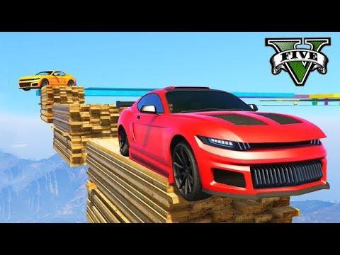 GTA V Online: PRIMEIRO PARKOUR com CARRO GTX DOMINATOR!! ÉPICO