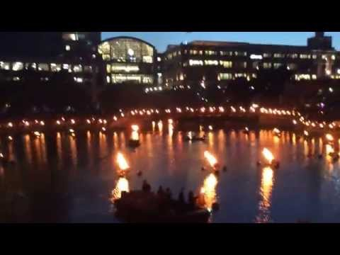Waterfire toursit attraction event @ Providence, Rhode Island