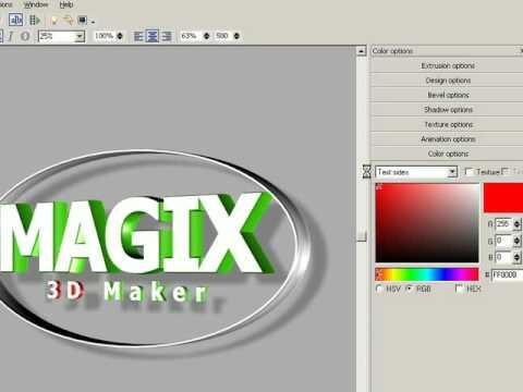 Magix 3d maker fran ais tutorial part 1 youtube for 3d maker online