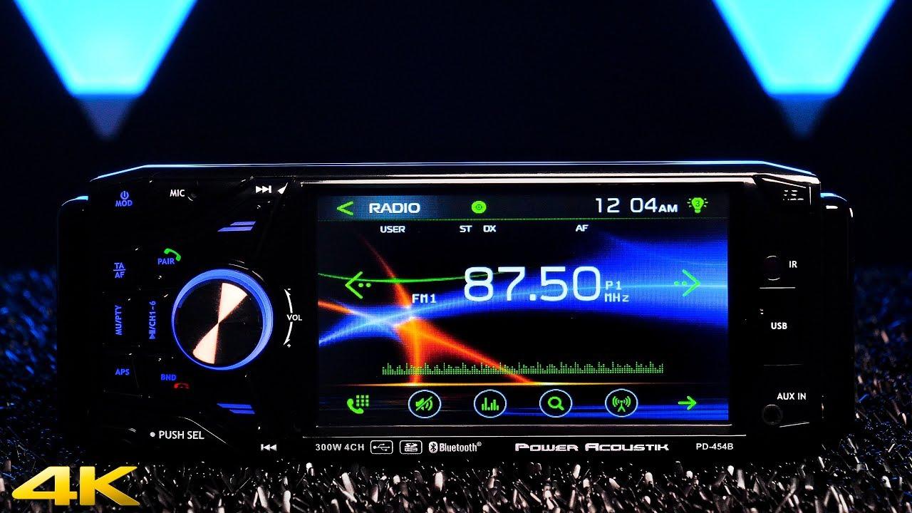Power Acoustik Pd 454b Single Din W 4 5 Touchscreen Display