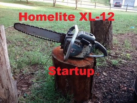 52+yr Old Chainsaw Startup: Homelite XL-12