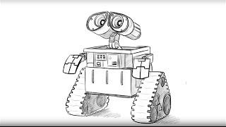 How to draw Wall-e/Как нарисовать Волл-и