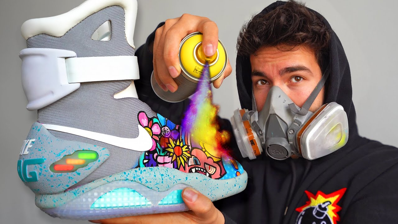 Painting on the World's Most Expensive Sneakers ($30,000)