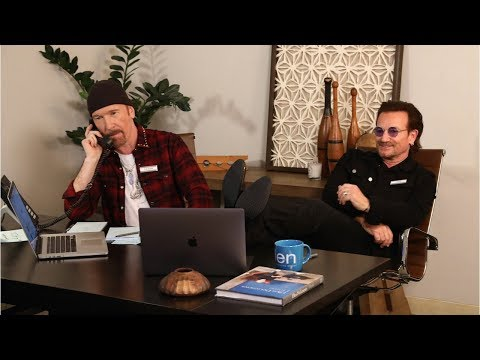 Bono & The Edge Are Ellen's Assistants for the Day: Part 1