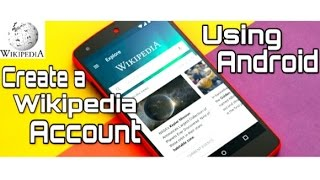How to create Wikipedia account using Android hindi