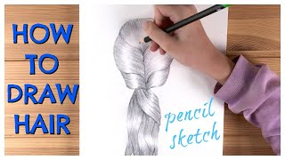 How to draw hair easy step by step / Satisfying Art / Ingrid Surprise Art #34