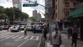 NYPD & United States Secret Service Escorting A Motorcade Near The United Nations General Assembly