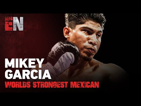 Mikey Garcia Landing Bombs On Worlds Strongest Mexican (power-lifter record over 600 pounds)
