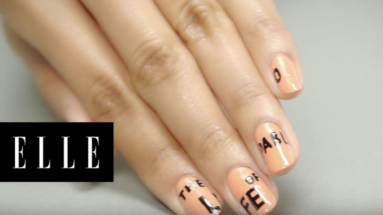Kanye West Inspired Nail Art | ELLE - YouTube