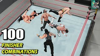 WWE 2K18 Top 100 Finisher Combinations!! WWE 2K19 Countdown