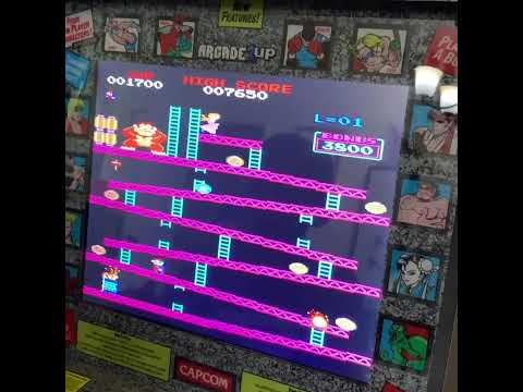 Quick Donkey Kong Gameplay on Modded Arcade1up #shorts from JLS Gaming