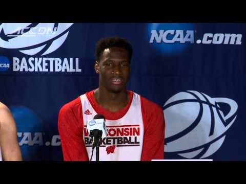 Wisconsin Basketball Player Has Embarrassing Moment at Press Conference video