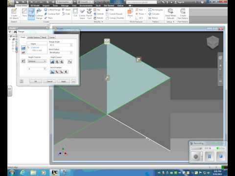 Inventor 2011 Intro To Sheet Metal Doovi